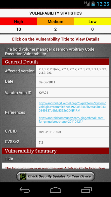 4.1 Vulnerability Report