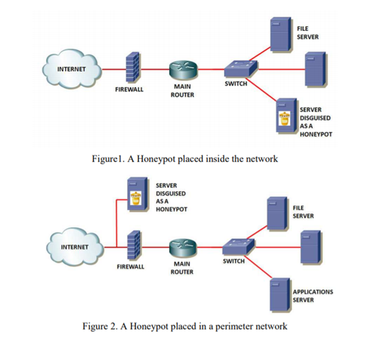 A Honeypot placed in a perimeter network