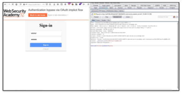 oauth demo step 2 - Enter the given credentials.
