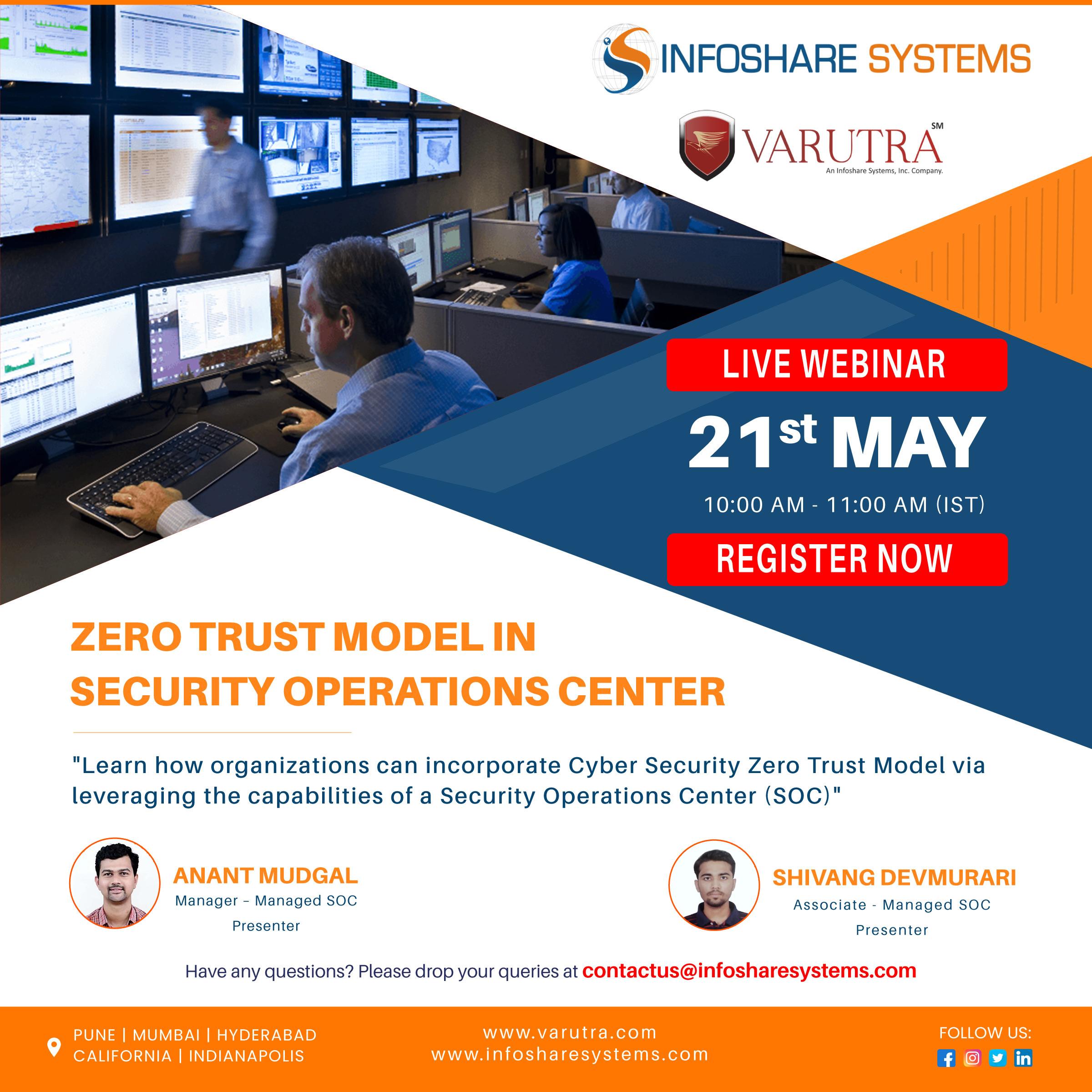 Webinar Alert - Zero Trust Model in Security Operation Center