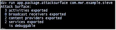 Identify attack interface