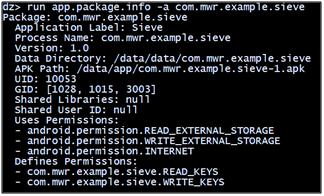 Retrieve package information